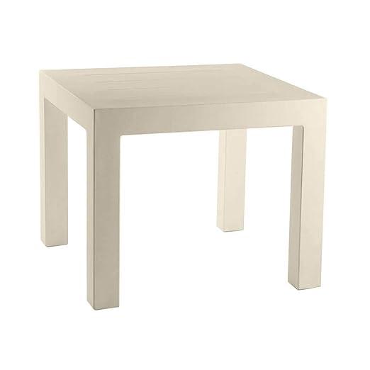 Vondom Jut mesa de exterior 90x90 cm ecru: Amazon.es: Jardín