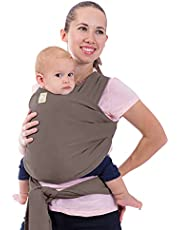 Baby Wrap Carrier - All in 1 Stretchy Baby Sling - Baby Carrier Sling - Baby Carrier Wraps - Baby Carriers for Newborn, Infant - Baby Holder Straps - Baby Slings - Baby Sling Wrap (Copper Gray)
