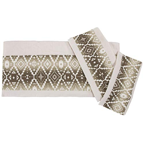 HiEnd Accents Chalet Bath Towel Set, Ivory