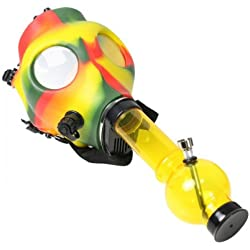 RASTA RUBBER GAS MASK WITH ACYRLIC TUBE - YELLOW
