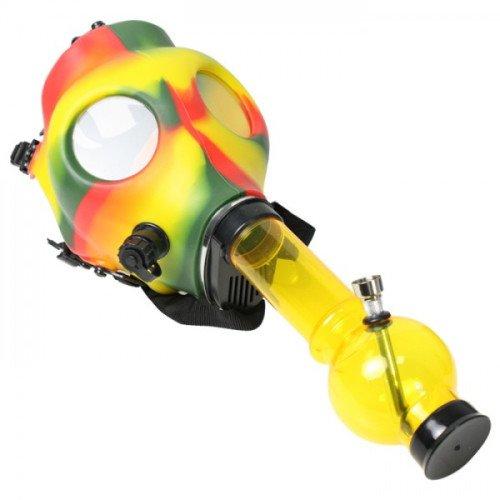 RASTA-RUBBER-GAS-MASK-WITH-ACYRLIC-TUBE-YELLOW