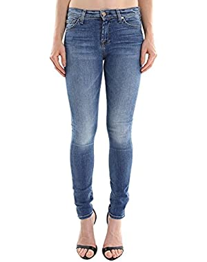 7 For All Mankind Women's Skinny w/ Squiggle in Destroyed Rue De AU004144A SZ 27