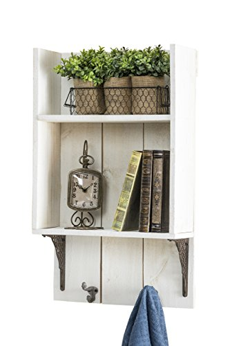 del Hutson Designs USA Handmade Reclaimed Wood Rustic Bathroom Shelf, White by del Hutson Designs (Image #1)