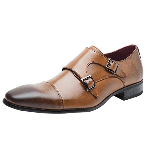 Jiyaru Mens Wingtips Oxford Schoenen Formele Zakelijke Kleding Schoenen Bruin