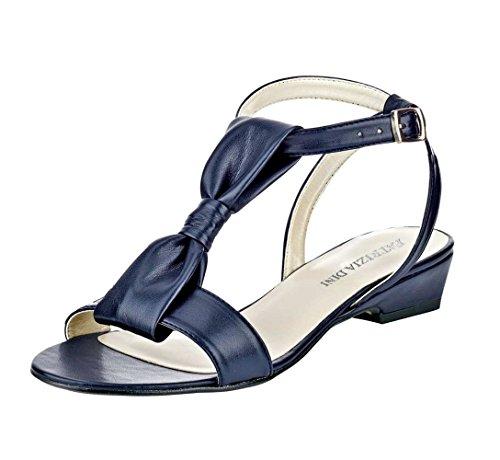 Patrizia Dini - Sandalias de vestir de Piel para mujer Azul marino Azul - marino