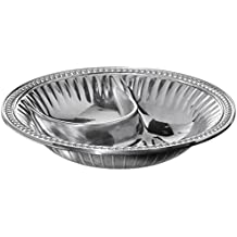 Wilton Armetale Flutes and Pearls Small Round Chip and Dip Server, 11-Inch