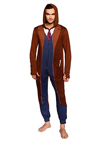Doctor Who 10th Doctor Cosplay Pajama (Large/Extra-Large) (10th Doctor Dress)