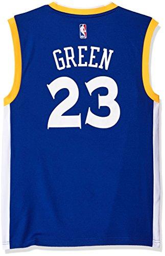 NBA Men's Golden State Warriors Draymond Green Replica Player Stretch Jersey, X-Large, Blue