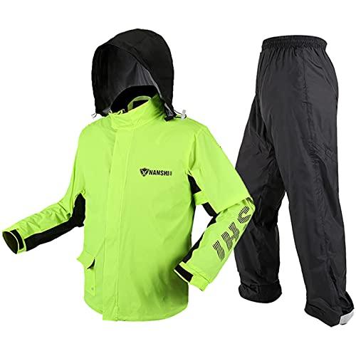 Motorrad Kombi – Regenkombi für Männer Frauen, Wasserdicht Motorrad Regenanzug for Hiking Cycling Camping and Travel(XL)