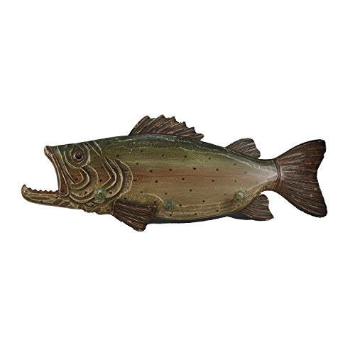 Connie N Randy Wood Bass Coat Hook