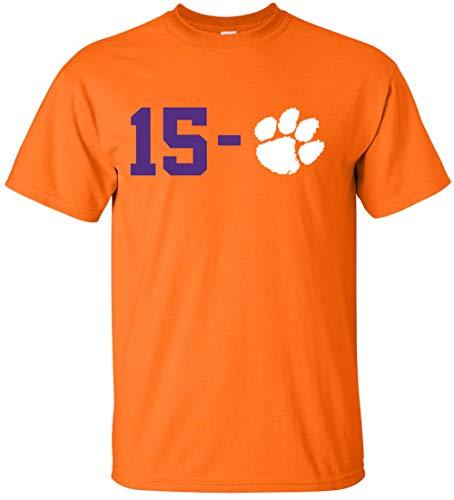 - Orange Clemson 15-0 2018 2019 National Champs T-Shirt Youth