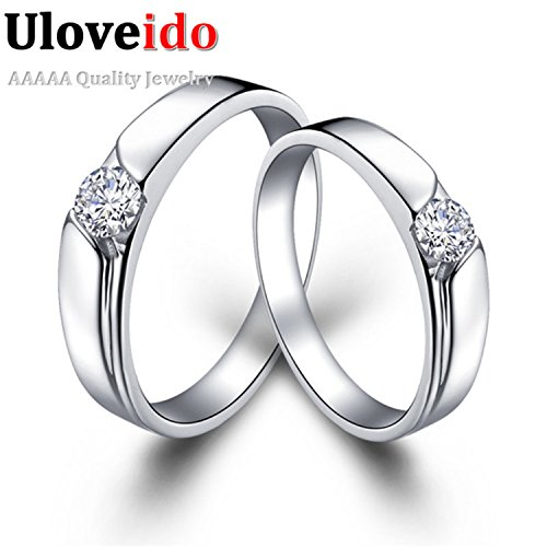 Myn Jewelry CZ Engagement Ring Silver Plated Ring topaze mystique de Boda Goods J016