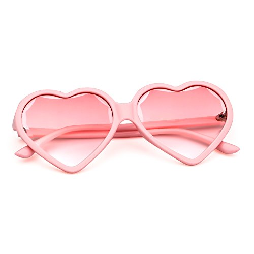 Mujeres Lente Heart Elegante 1 ADEWU Rosa Rosa Eyewear Vintage Chica Love Sunglasses Marco Party wT0qUaR