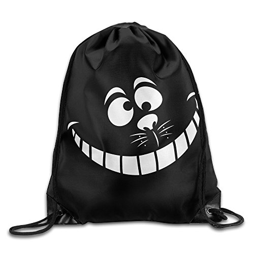 Cheshire Cat Face Nylon Backpack Bag Home Travel Sport Storage