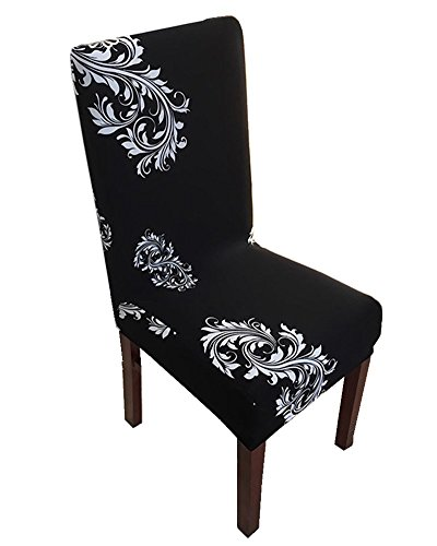 (Seiyue Super Fit Stretch Removable Washable Short Dining Chair Cover Protector Seat Slipcover for Hotel,Dining Room,Ceremony (Only Cover,No Chair))