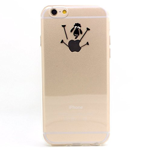 JAHOLAN iPhone 6 Case, iPhone 6S Case Amusing Whimsical Design Clear Bumper TPU Soft Case Rubber Silicone Skin Cover for iPhone 6 6S - Little Lamb -