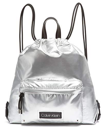 Calvin Klein Georgia Nylon Backpack, Silver