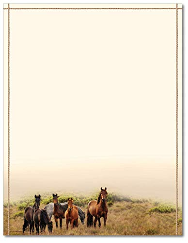 - Horse Meadow Stationery Paper - 80 Sheets