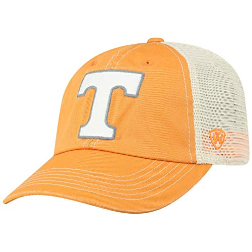 Top of the World NCAA Tennessee Volunteers Men's Vintage Mesh Adjustable Icon Hat, Light -