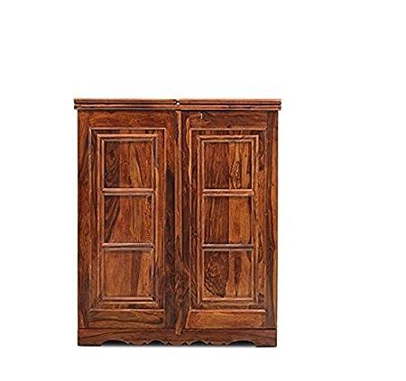 Jangir JDBF219 Bar Cabinet (Medium Glossy Finish, Walnut)