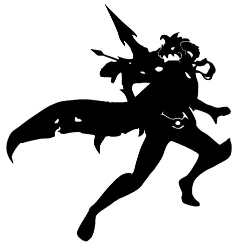 [Blk Vayne League Of Legends Inspired Decal Vinyl Sticker Cars Trucks Walls Laptop BLACK 5.5] (Ashe League Of Legends Cosplay Costume)