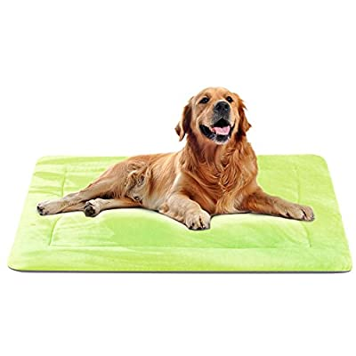 JoicyCo Dog Bed Mat Large Soft Crate Pad 28/35/42 In- 100% Machine Washable Anti-Slip Fleece Mattress Luxury Rich Color