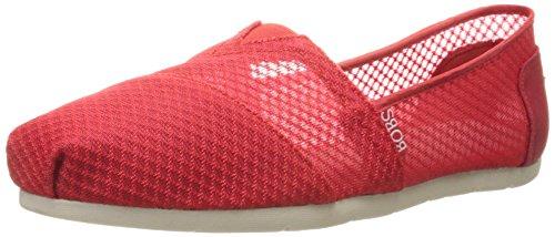 Skechers BOBS Von Frauen Luxe Fashion Slip-On Flat Rote Masche