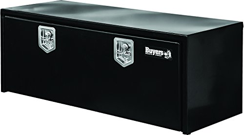 Buyers Products Black Steel Underbody Truck Box w/ T-Handle Latch (18x18x60 Inch) (60 Inch Tool Box)