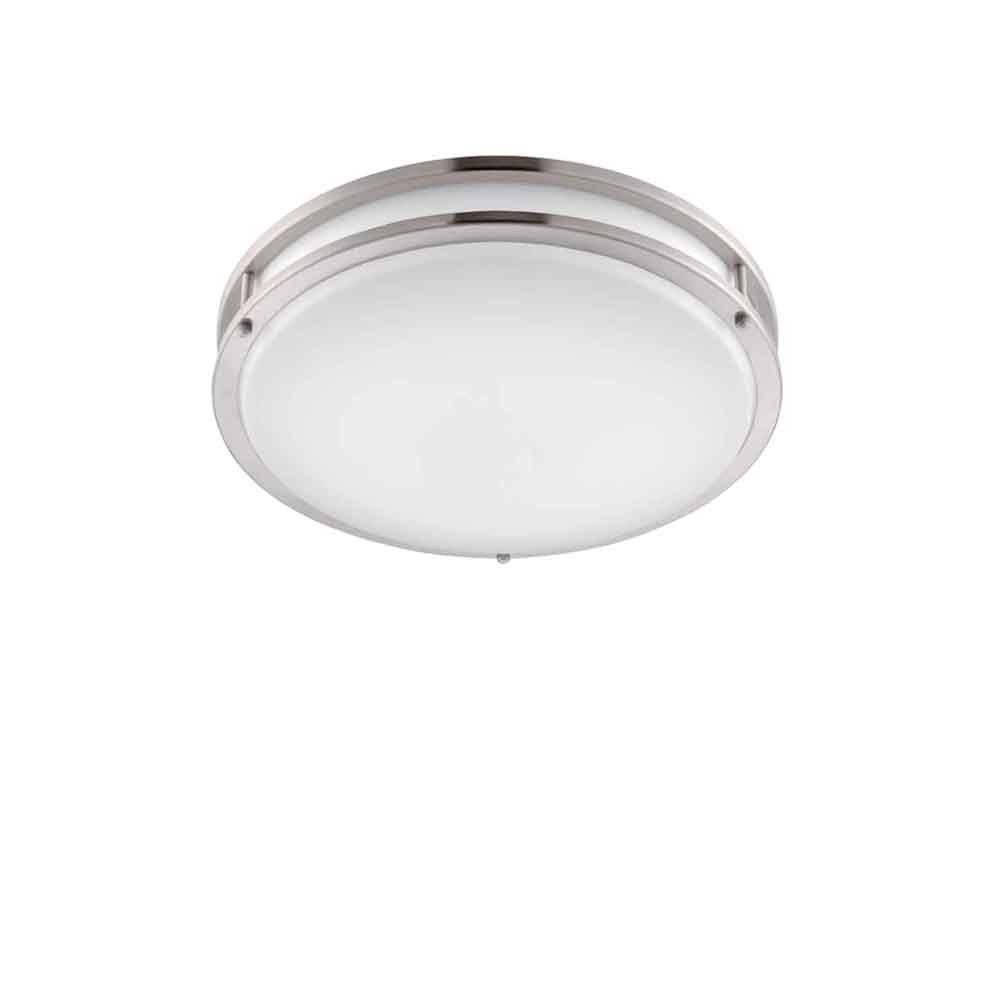 Designers Fountain EV1412LED-BN Low Profile LED Flush Mount Ceiling Lighting Fixture, 12, Brushed Nickel Weiß by Designers Fountain