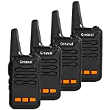 Long Range Mini Walkie Talkie Portable Two Way Radios 16 Channel 2 Way Radio for Adult Kids Camping Hunting etc. (4 Pack)