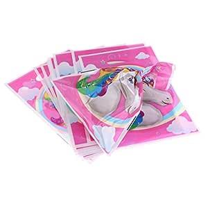 10 piezas bolsas de regalo de unicornio mágico regalo de cumpleaños de cumpleaños de niños favores