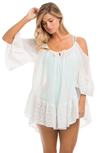 Ale by Alessandra Women's Ibiza Solid Dress Swim Cover Up White XS/S