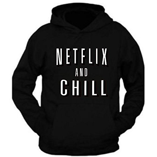 Netflix Movie Hoodie Netflix and Chill Hoodie Pullover Halloween Costume NEW (L) -