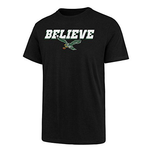 NFL Philadelphia Eagles Men's OTS Slogan Rival Tee, Jet Black, X-Large -