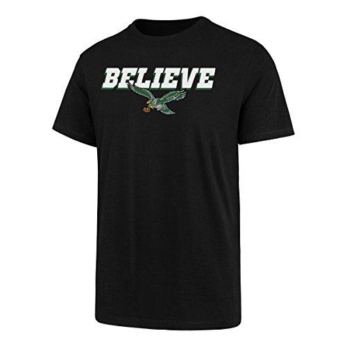 NFL Philadelphia Eagles Men's OTS Slogan Rival Tee, Jet Black, ()