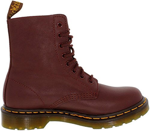 Dr. Martens Women's Pascal Combat Boot, Cherry Red, 7 UK/9 M US by Dr. Martens (Image #1)