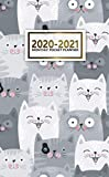 2020-2021 Monthly Pocket Planner: 2 Year Pocket Monthly Organizer & Calendar | Cute Two-Year (24 months) Agenda With Phone Book, Password Log and Notebook | Nifty Cartoon Cats & Kittens