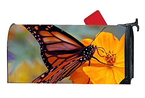 KSLIDS Personalized Mailbox Makover Cover Monarch Butterfly Mailbox Covers Yard,Garden,Home Magnetic by KSLIDS