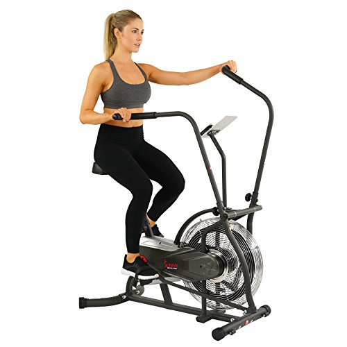 Sunny Health & Fitness Zephyr Air Bike, Fan Exercise Bike with Unlimited Resistance, Adjustable Handlebars – SF-B2715