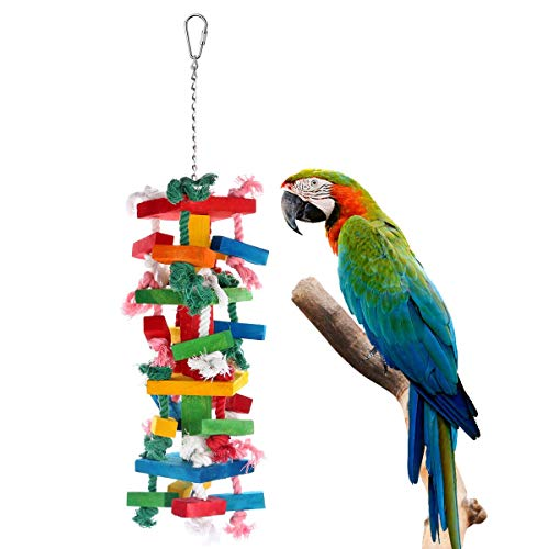 Bvanki Parrot Toy, Colurful Rainbow Bridge, Chewing,Hanging Toy, Parrot Nest Suitable for A Wide Variety of Large and…