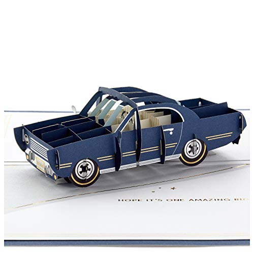 Hallmark Signature Paper Wonder Pop Up Birthday Card (Classic Car, Amazing Ride)]()