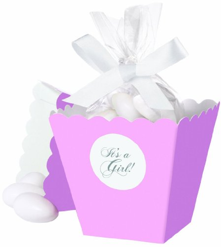 Wilton 415-0502 Pink It's a Girl Popcorn Box Favor Kit, 25 -