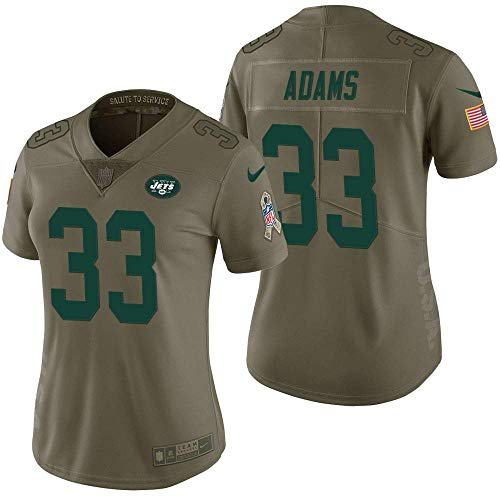 Nike Women's 2XL (XX-Large) Jamal Adams New York Jets Salute to Service Vapor Untouchable Limited Jersey -Olive