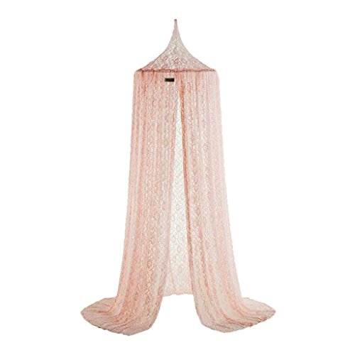 Prettyia Net Canopy Bed Curtain Dome Mosquito Insect Stopping Net Tent for Kids - Pink, as described by Prettyia