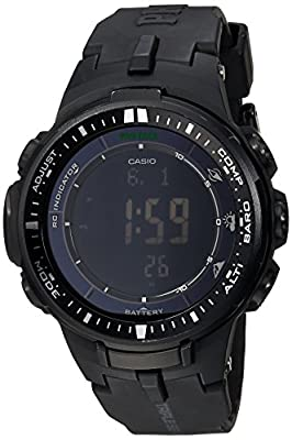 Casio Men's PRW-3000-1ACR Protrek Black Sport Watch from Casio