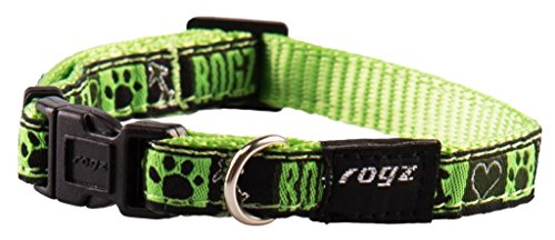 Premium Pattern Ribbon Designer Dog Collar for Small Dogs, A