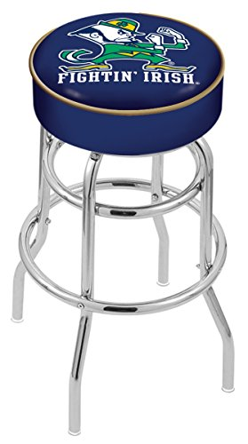 Holland Bar Stool L7C1 Notre Dame (Leprechaun) Swivel Counter Stool, 25