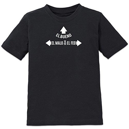 shirtcity-el-bueno-el-malo-y-el-feo-kids-t-shirt-152-164-black