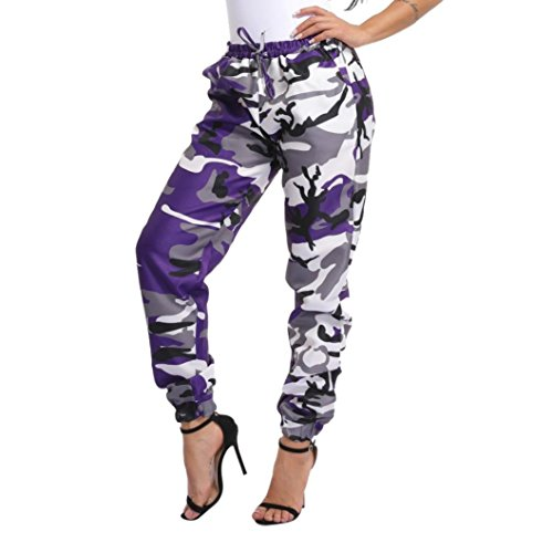 Pants For Womens, FORUU Sports Camo Cargo Gym Outdoor Casual Camouflage Trousers (XL, - Camouflage Purple Pants