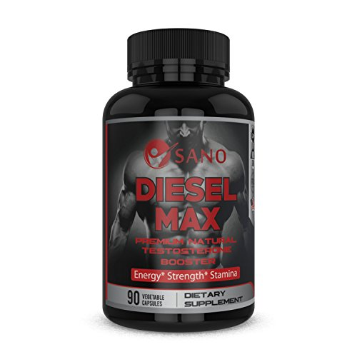 Diesel Test - Diesel Max Ultimate Men's Testosterone Booster Dietary Supplement - 100% Natural Herbal Ingredients - Boosts Muscle Growth & Recovery, Supports Stamina & Performance - Perfect For Athletes & Busy Men